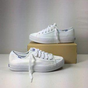 Triple Kick Platform White Sneaker, Size 8m